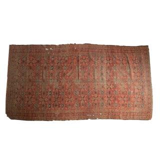 """Antique Tattered Beshir Carpet - 6' X 11'6"""""""