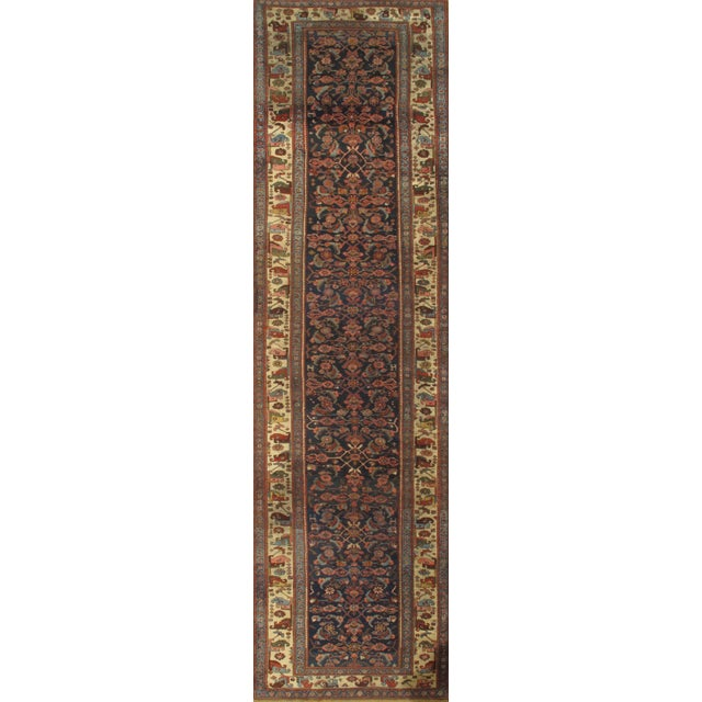 """Islamic Pasargad NY Antique Persian Bidjar Hand-Knotted Rug - 4'3"""" x 16'3"""" For Sale - Image 3 of 3"""