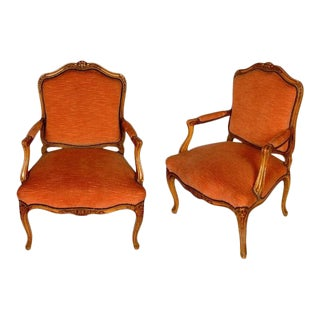 French Louis XV Style Fauteuils, circa 1940 - A Pair For Sale
