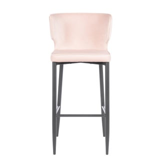 Kayla Upholstered Blush Pink Bar Chair Preview
