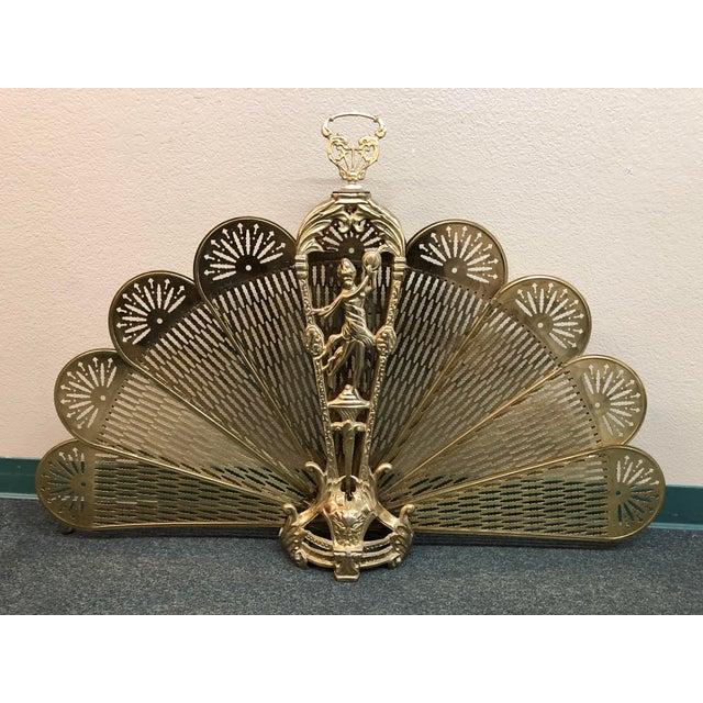 Art Deco Brass Folding Fire Screen For Sale - Image 13 of 13