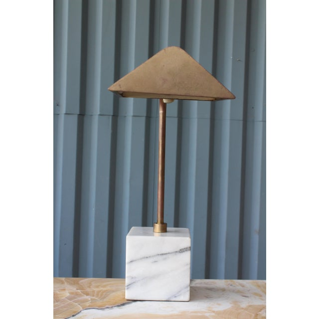 Brass Desk Lamp by Koch & Lowy, 1970s For Sale - Image 7 of 8