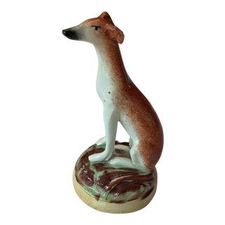 Vintage Staffordshire Greyhound Figurine For Sale