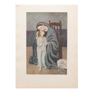 1948 Pablo Picasso Original Maternité Lithograph, C. O. A. For Sale