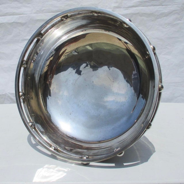 Metal Larry Laslo Silver Plate Center Bowl For Sale - Image 7 of 8