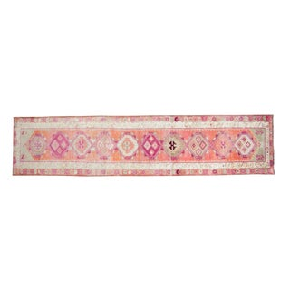 1950s Vintage Kurdish Runner Rug - 2′9″ × 12′ For Sale