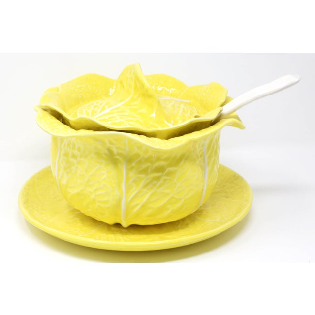 A vintage Secla yellow cabbage soup tureen, with lid, ladle, and underplate. All pieces are in excellent condition with NO...