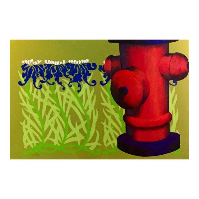 "Original ""Summer Sprinkler"" Acrylic Painting For Sale"