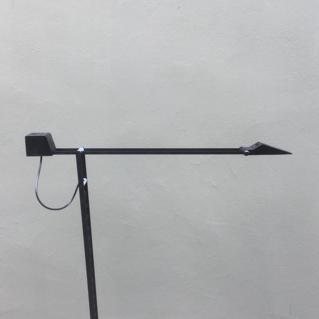 Black 1980 Tizio Style Halogen Floor Lamp For Sale - Image 8 of 11