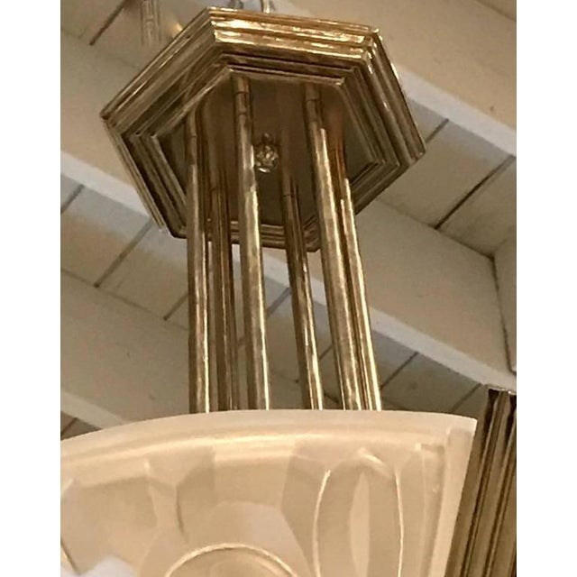 Degue French Art Deco Geometric Chandelier - Image 6 of 7