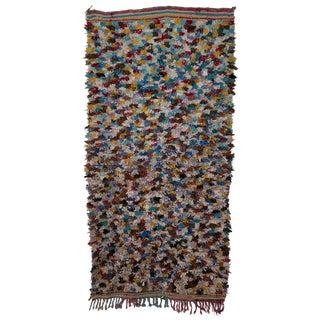"Boucherouite Moroccan Carpet - 7' x 3'6"""