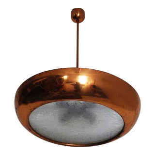 Bauhaus copper hanging lamp by Josef Hurka for Napako For Sale