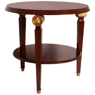 Pix Two-Tiered Center Table With Gilded Carved Star Embellishment, France, 1960s For Sale