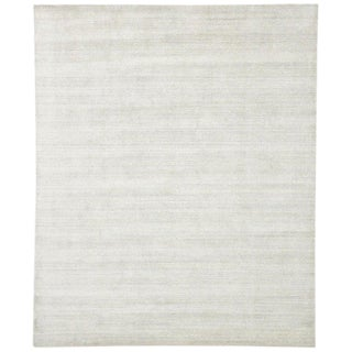 Transitional Light Gray Area Rug - 8′2″ × 9′11″ For Sale