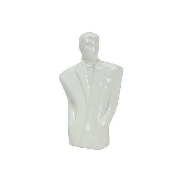 80s Art Deco-Redux Gentleman Bust - Image 1 of 4