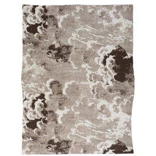 """Clouds Cashmere Blanket, Sepia, 51"""" x 71"""" For Sale"""