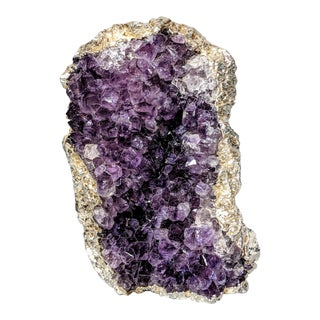 Organic Modern Amethyst Formation Dipped in Sterling Silver For Sale