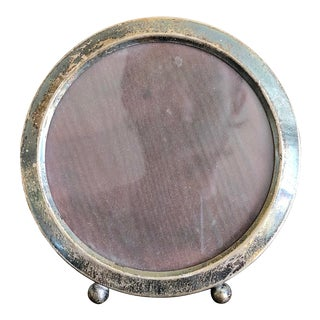 Early 20th Century Antique Gorham Sterling Silver Circle Picture Frame For Sale