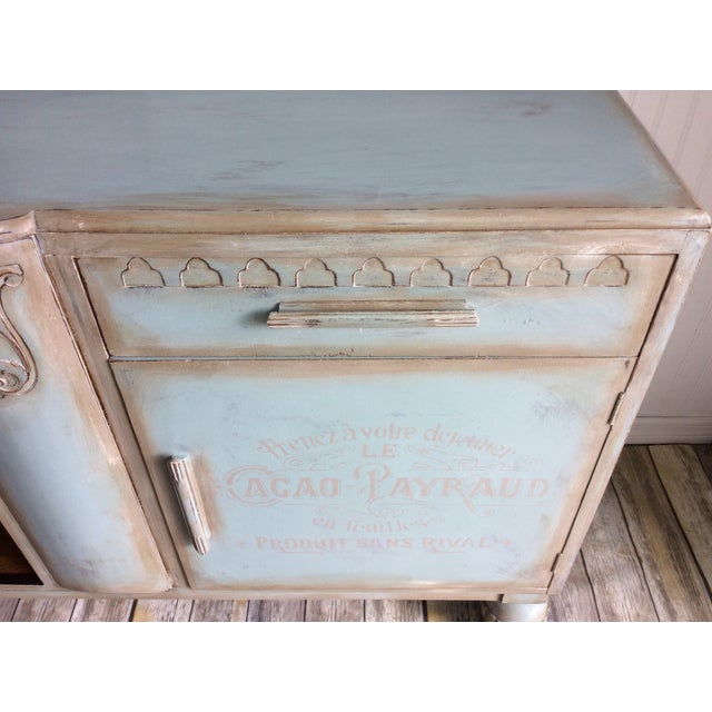 1930s French Cottage Painted Buffet For Sale - Image 4 of 13