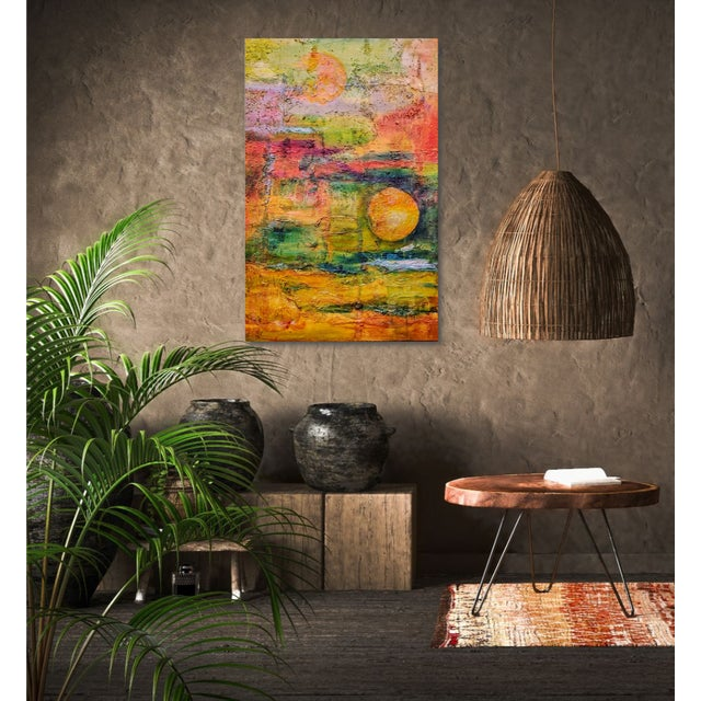 This painting is all about surface texture, and how it can enhance the meaning of the art. I created the painting inspired...