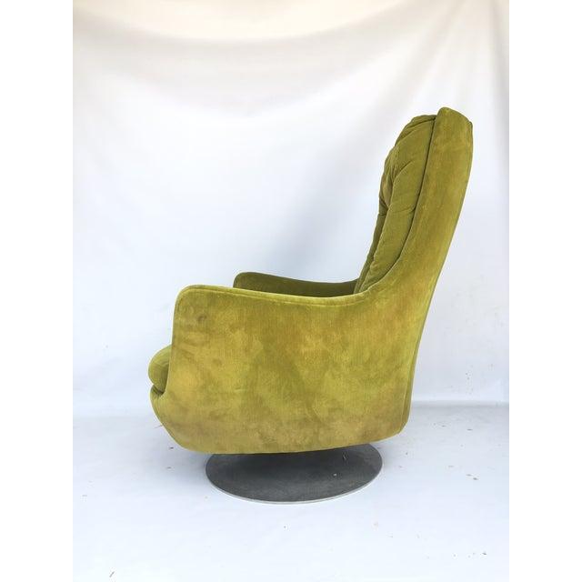 Milo Baughman Thayer Coggin Plush Mod Swivel Lounge Chair - Image 3 of 7