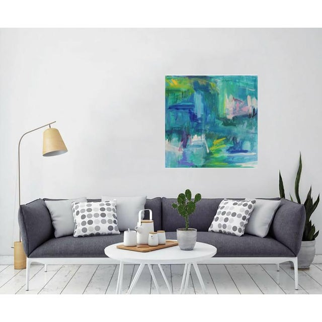 """""""Reflections"""" is an abstract expressionist oil painting on canvas but one of the top-selling Chairish artists, Trixie..."""