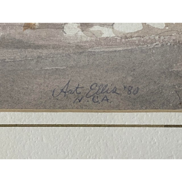 "Art Ellis ""Calico Mine, Joe's Saloon"" Original Watercolor C.1980 For Sale In San Francisco - Image 6 of 12"