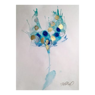 Foggy Blue Watercolor Painting For Sale
