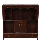 Image of Chinese Antique Carved Elm Display Shelf For Sale