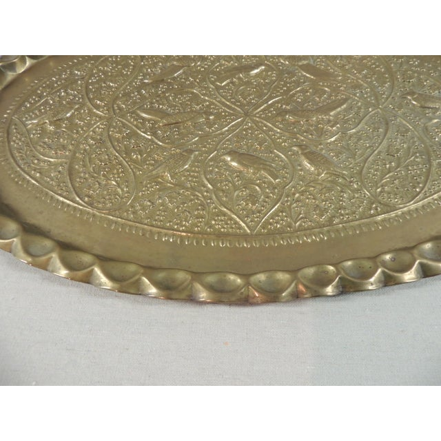 Antique Persian Oval Brass Tray - Image 3 of 4