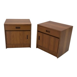 Custom Danish Teak Nightstands or End Tables - a Pair For Sale