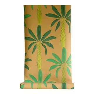Tropical Wallpaper in Gamboge Yellow, 6 Rolls For Sale