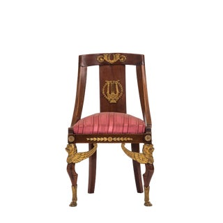 French Empire Mahogany Side Chair For Sale
