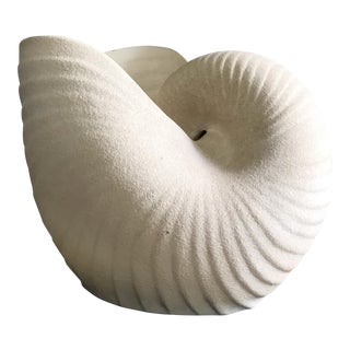 Giant Ceramic Nautilus Sea Shell Floor Vase