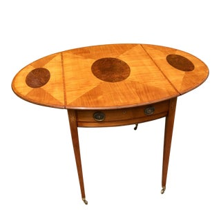 18th Century English George III Satinwood Pembroke Table For Sale