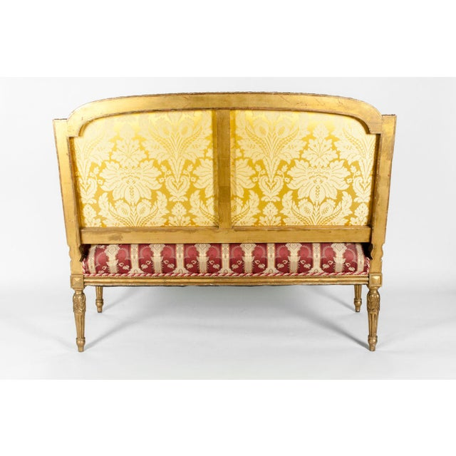 Early 19th Century Early 19th Century Louis XVI Style Giltwood Frame Settee For Sale - Image 5 of 13