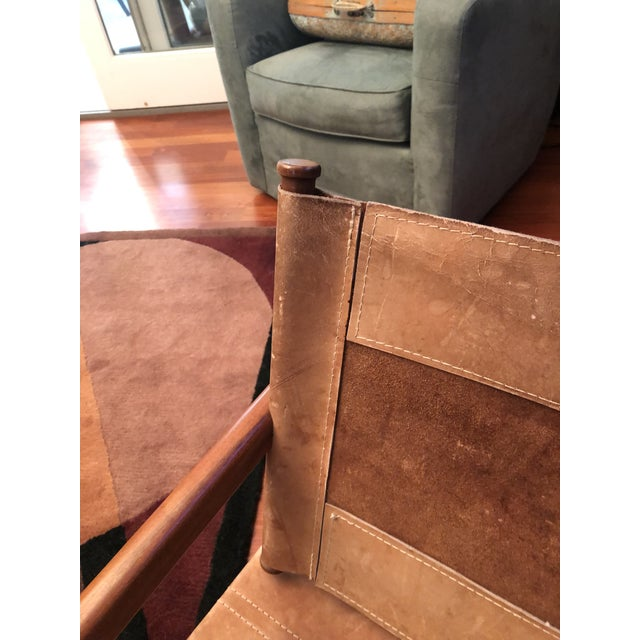 Very early Arnoult rocker sling chair from the 1950's. Arnoult is famous for the PAS furniture movement . Pack and Ship....