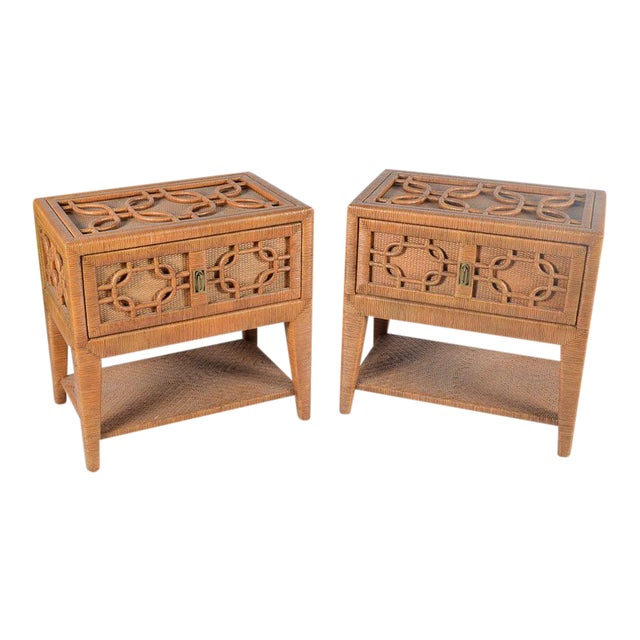 Vintage Lane Venture Side Tables/Nightstands - A Pair For Sale