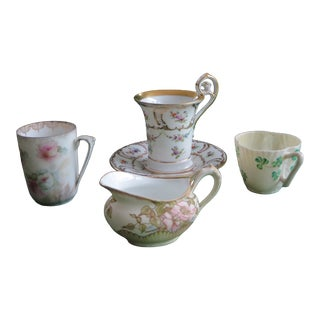 Antique Mixed Coffee Set of 4 For Sale