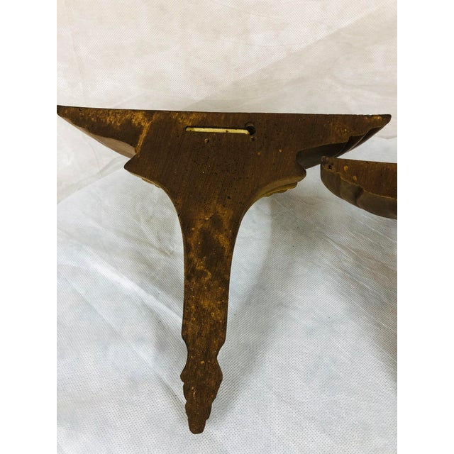 Mid Century English Gilded Wall Brackets - a Pair For Sale - Image 10 of 11