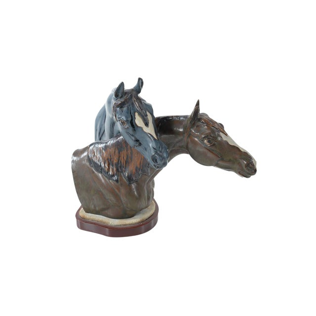 "Jose Roig Porcelain ""Horse Heads"" - Image 1 of 9"