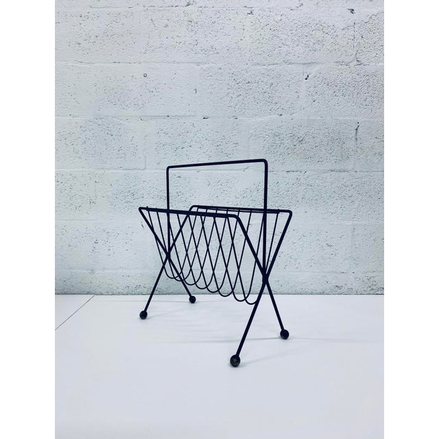 1950s Vintage Tony Paul Steel Wire Magazine Rack For Sale - Image 11 of 12