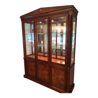 Ethan Allen Medallion Collection Cherry China Cabinet For Sale