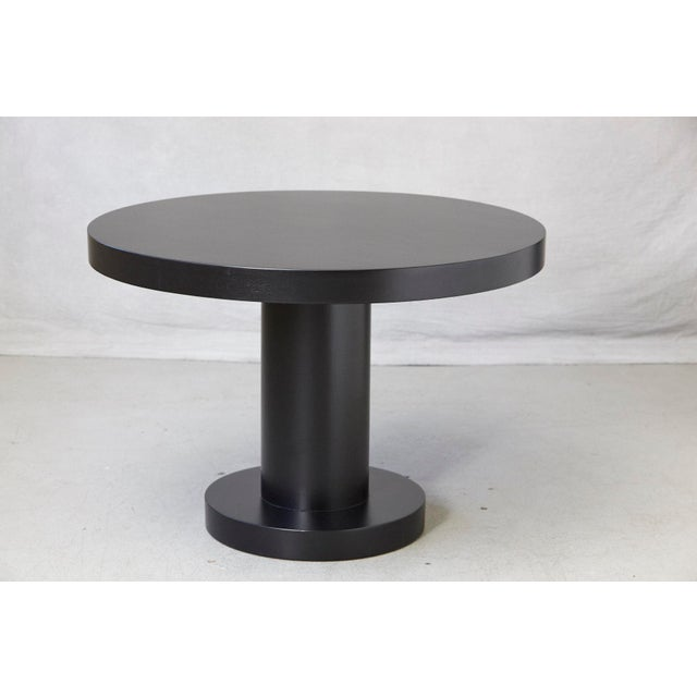 Modern Puristic Oak Center Table in New Black Finish, 1960s For Sale - Image 12 of 12