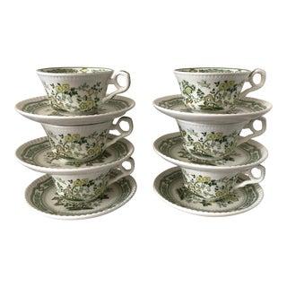 Chinoiserie Porcelain Tea Set, 12Pcs For Sale