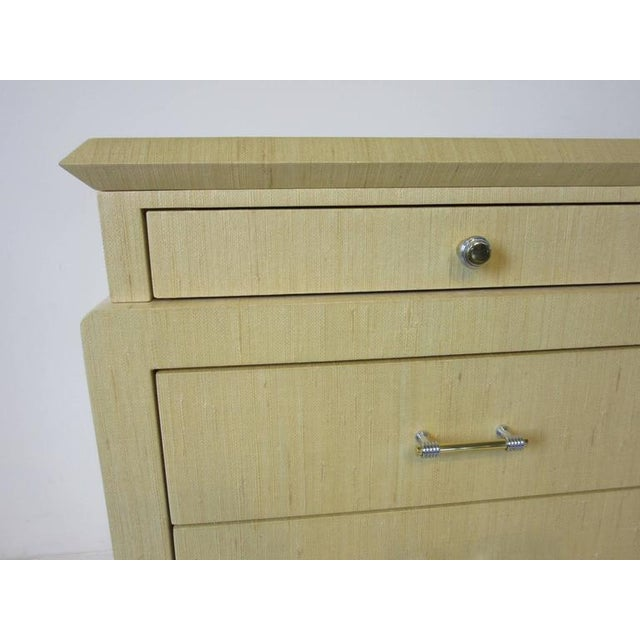 Steve Chase Styled Linen Grass Cloth Dresser Commode For Sale In Cincinnati - Image 6 of 8