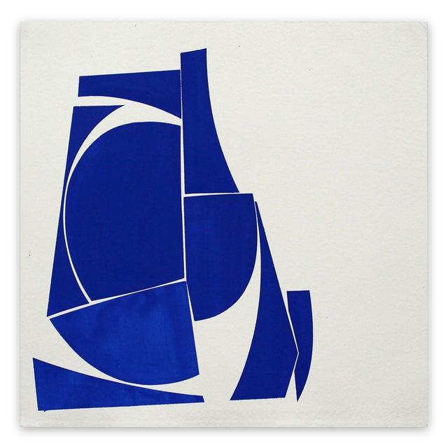 "Joanne Freeman Joanne Freeman ""Covers 24 Blue D Summer"" Painting For Sale - Image 4 of 4"