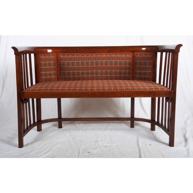 Thonet Antique Bentwood Seat by Josef Hoffmann for Thonet For Sale - Image 4 of 11