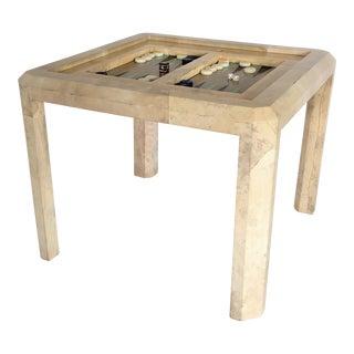 Karl Springer Goatskin Backgammon Game Table