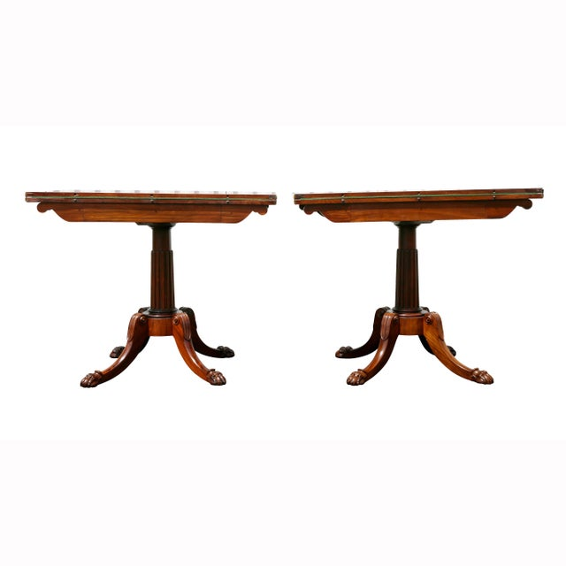 Pair of Regency Rosewood Games Tables For Sale - Image 12 of 13